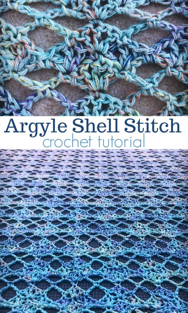 Argyle Shell Crochet Stitch Tutorial