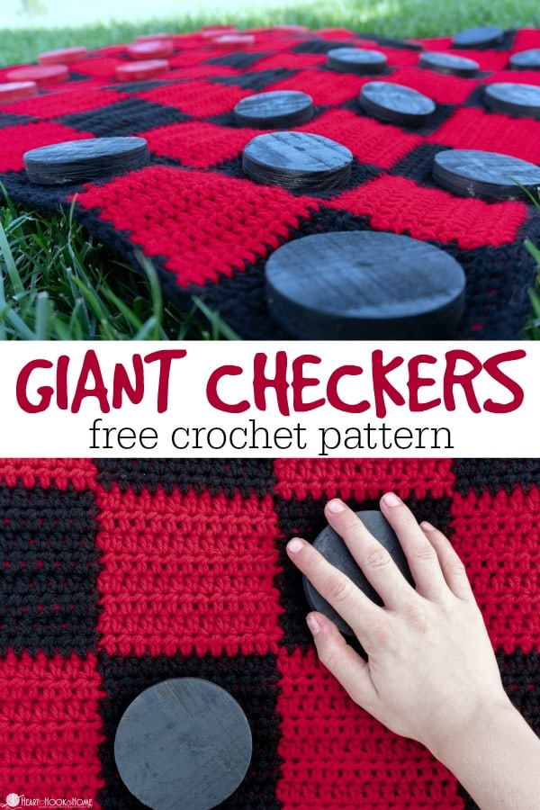 Giant Crochet Checkers Game