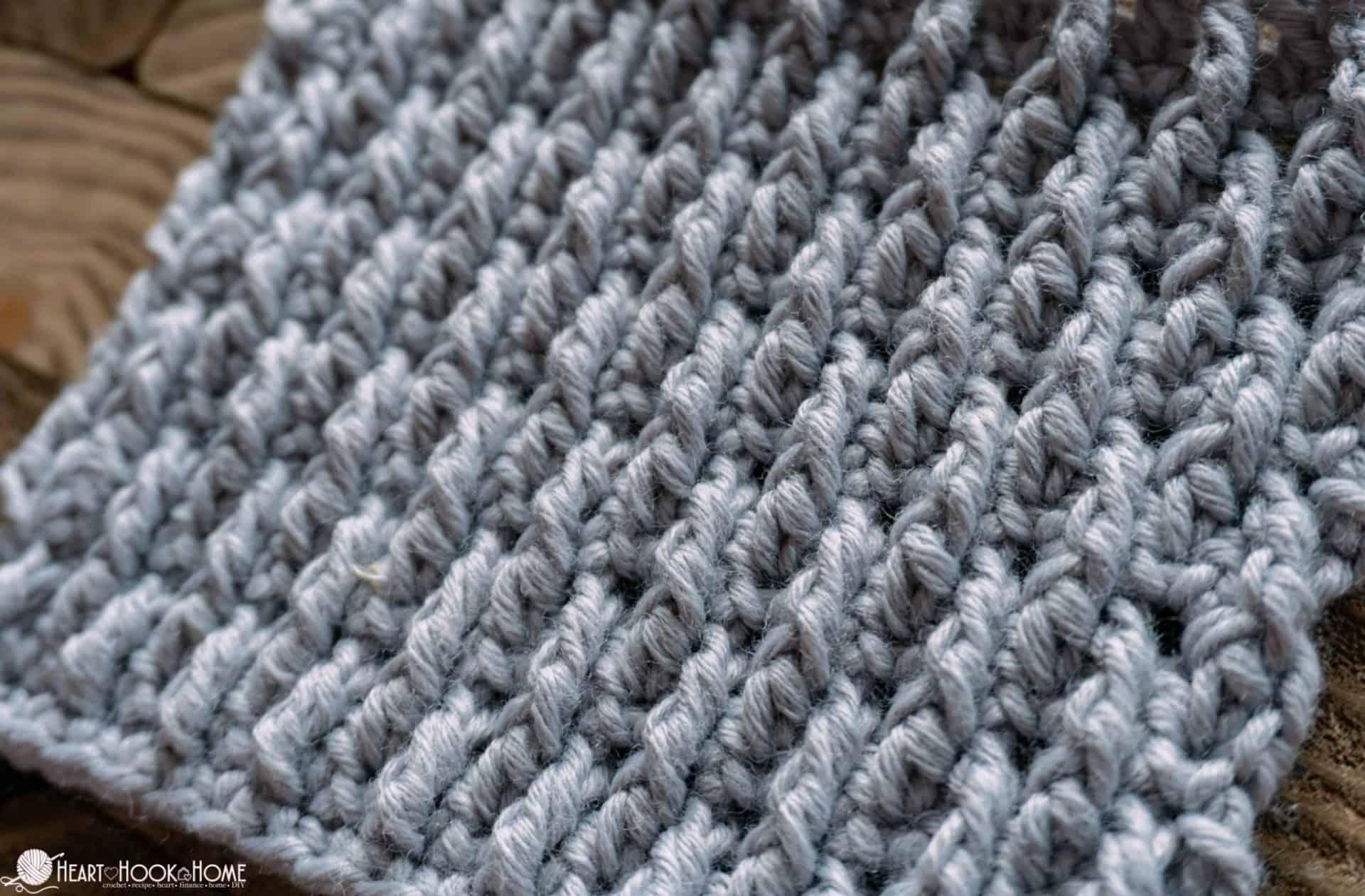 Alpine Stitch Crochet Tutorial
