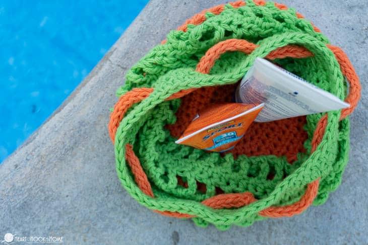 Summer bag free crochet pattern