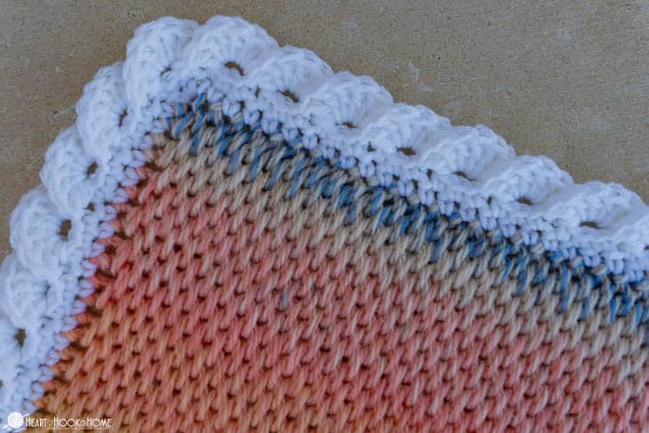 Reverse shell on Tunisian Full Stitch blanket