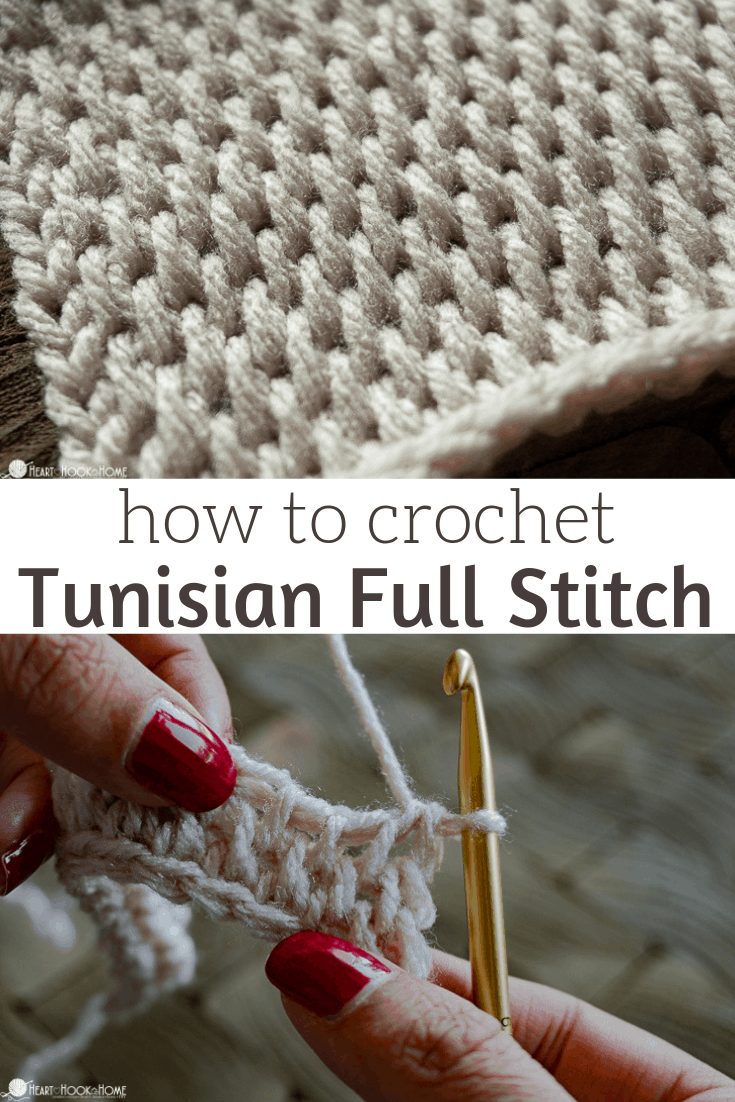 how to Tunisian Full Stitch crochet