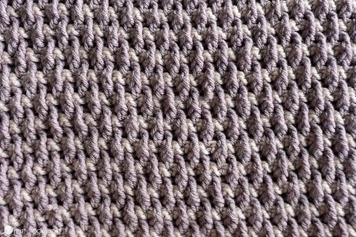 How to crochet the alpine stitch