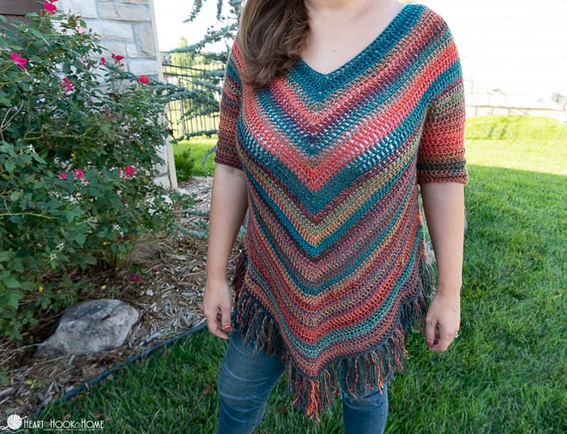 poncho with sleeves crochet pattern