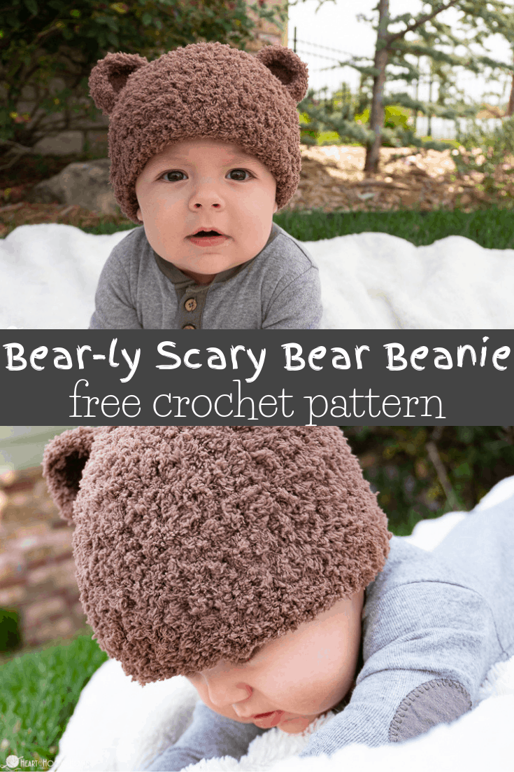 Bear-ly Scary: A Bear Beanie Free Crochet Pattern