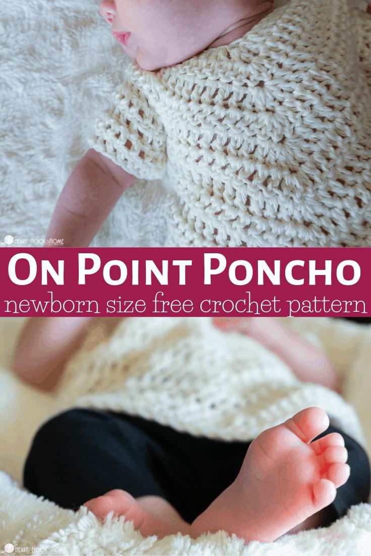 One Point Poncho newborn size
