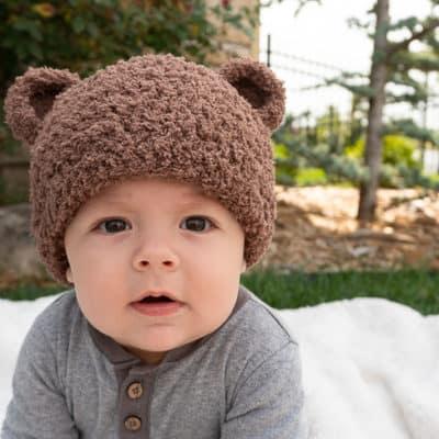 Bear-ly Scary Bear Beanie Crochet Pattern