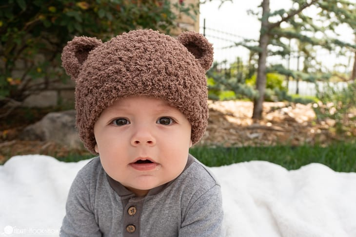 Bear-ly Scary Bear Beanie Crochet Pattern