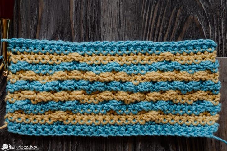 Back side of Greek Key crochet pattern