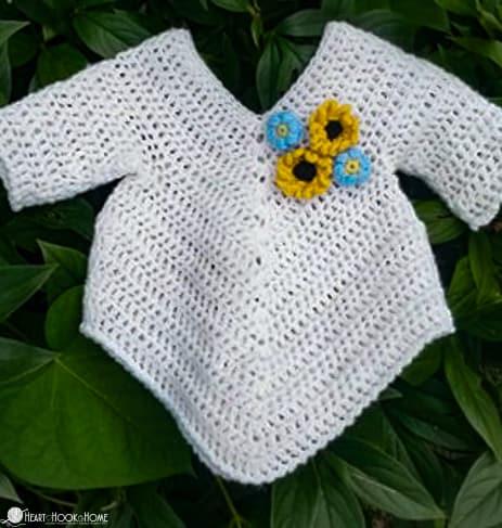 Infant Poncho Crochet Pattern
