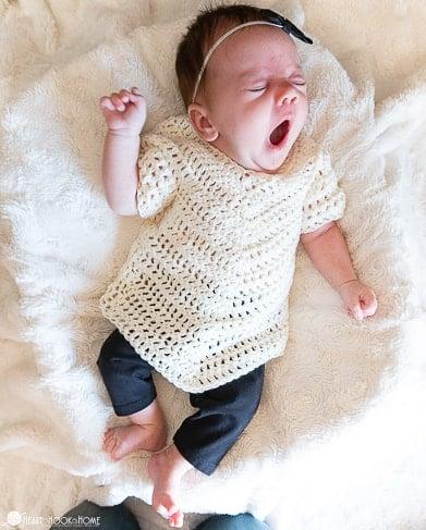 newborn size poncho crochet pattern