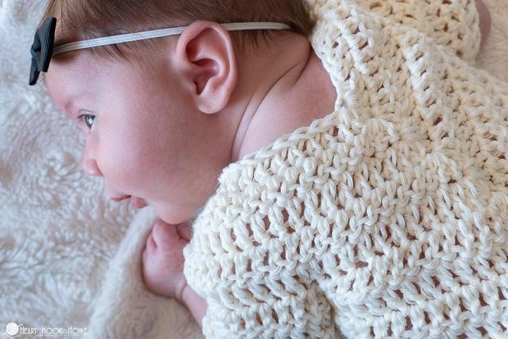 Adorable newborn poncho crochet