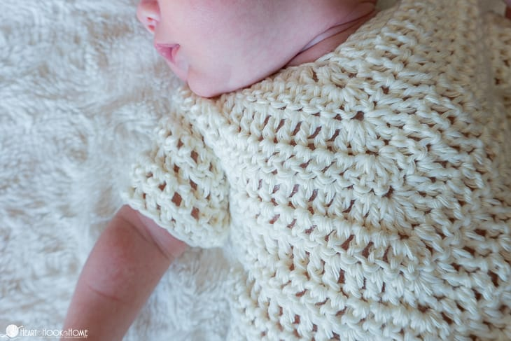 Newborn poncho pattern
