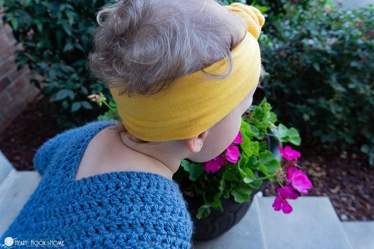 2/3T On Point Poncho Free Crochet Pattern