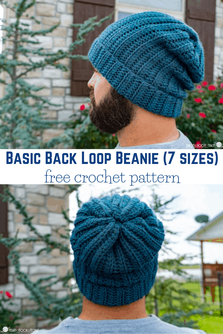 Basic Beanie Free Crochet Pattern (7 sizes)