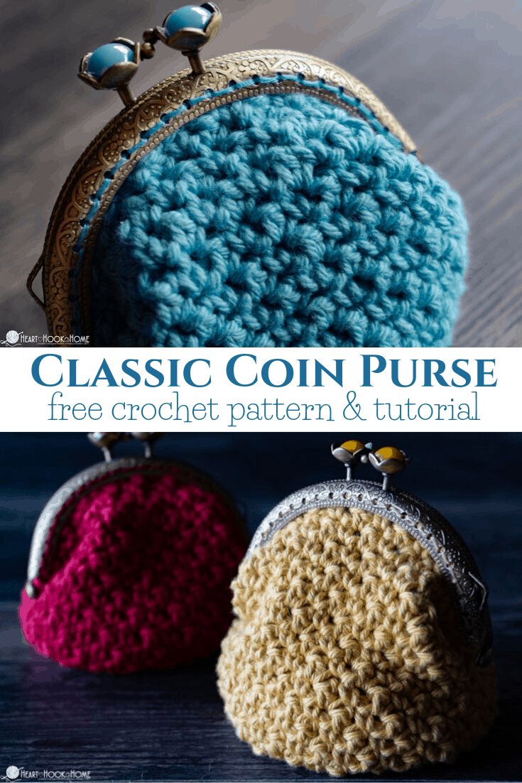 Coin Purse crochet pattern and sewing tutorial