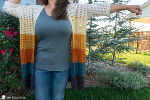 Grid Cardi Crochet Pattern