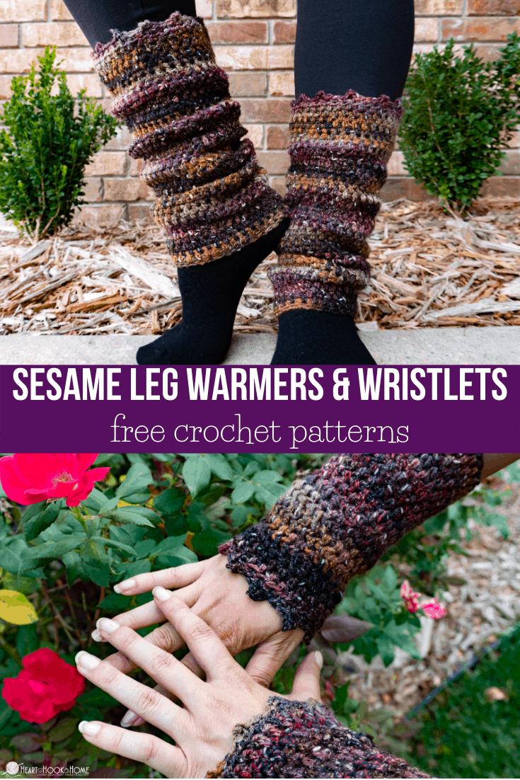 Sesame Leg Warmers Crochet Pattern