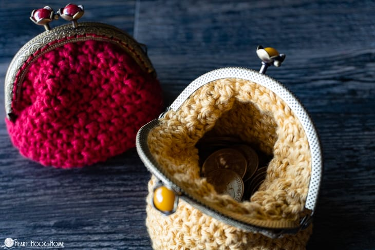 Beautiful classic coin purse crochet pattern
