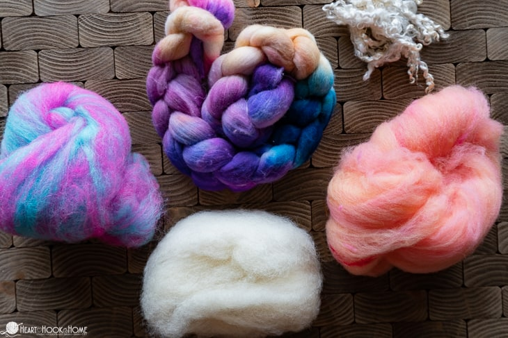 Monthly fiber subscription box for spinning yarn