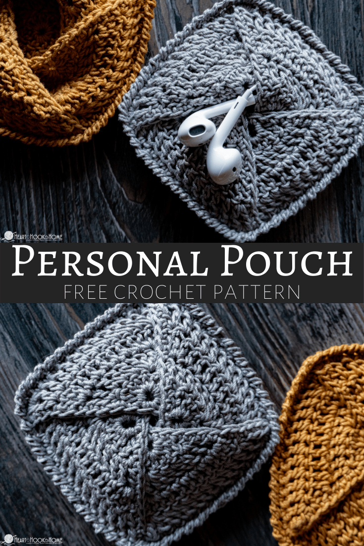 Personal Pouch free Crochet pattern