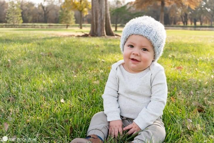 warm crochet hat for babies