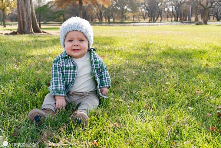 warm crochet hat for kids
