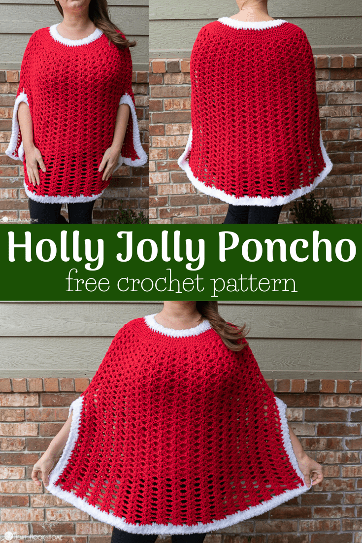 Holly Jolly Poncho Christmas Poncho Crochet Pattern