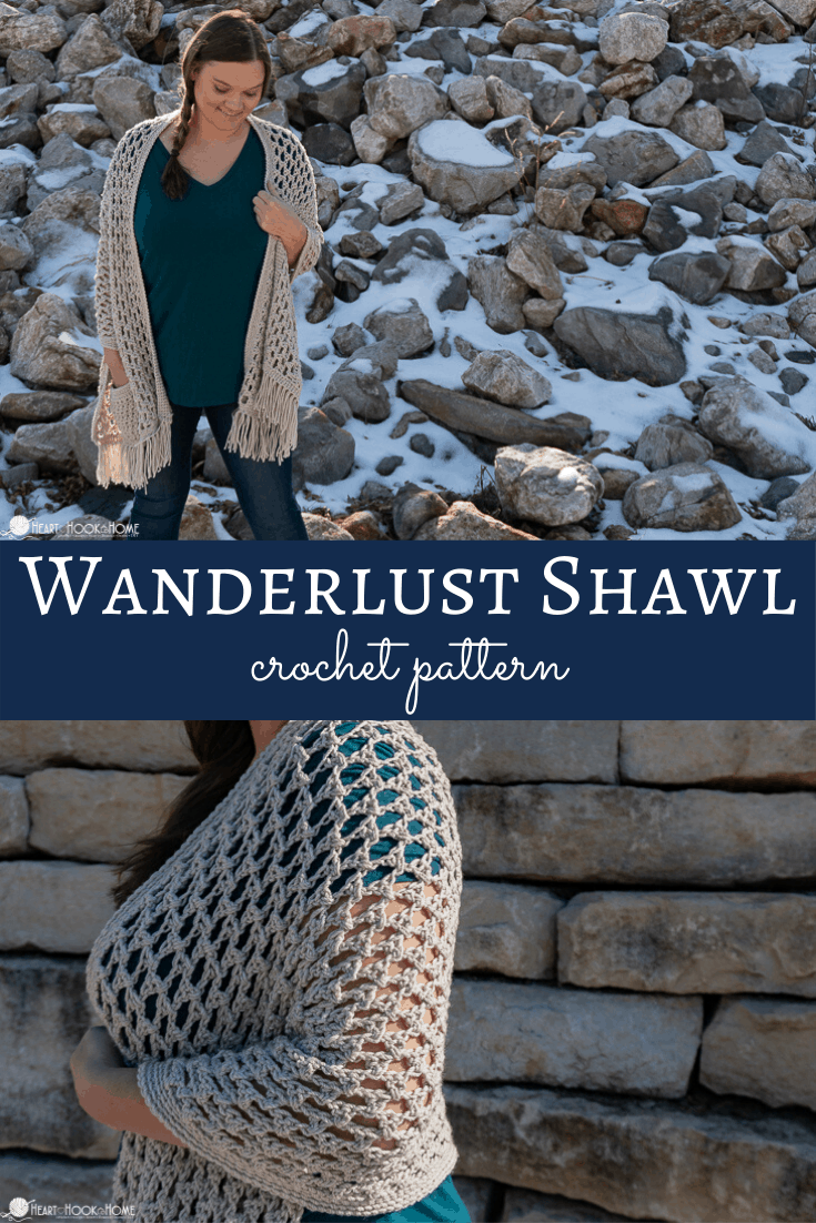Wanderlust Shawl Crochet Pattern