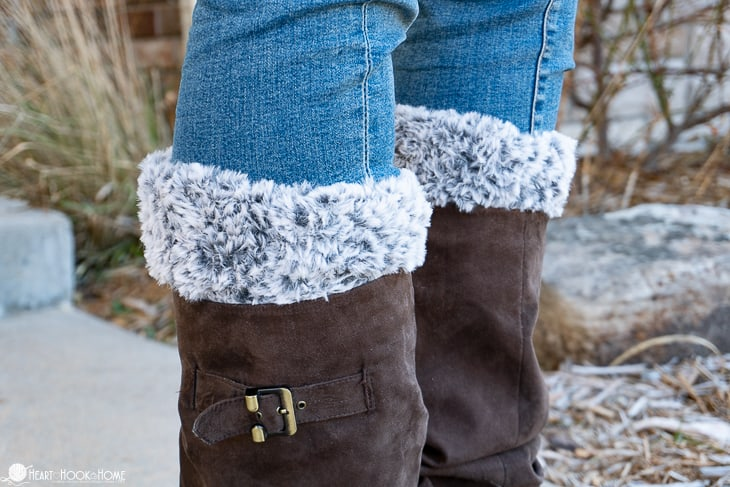 Faux Fur Boot Cuffs Crochet Pattern