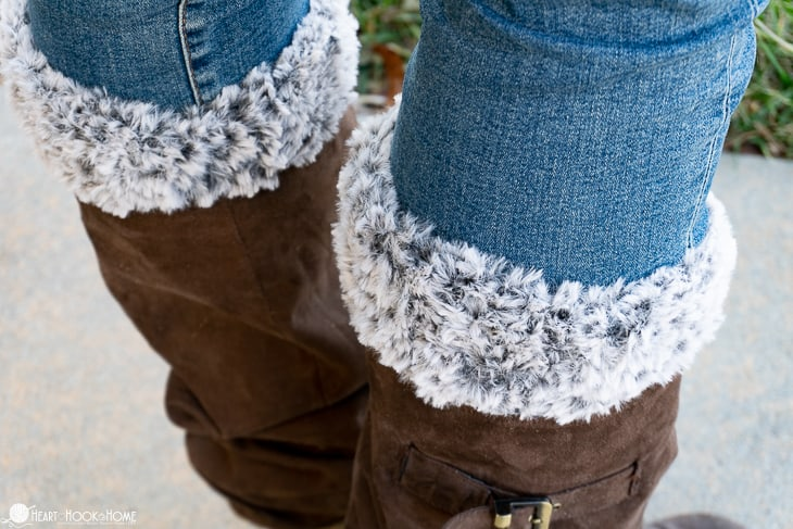 Faux Fur Boot Cuff free crochet pattern