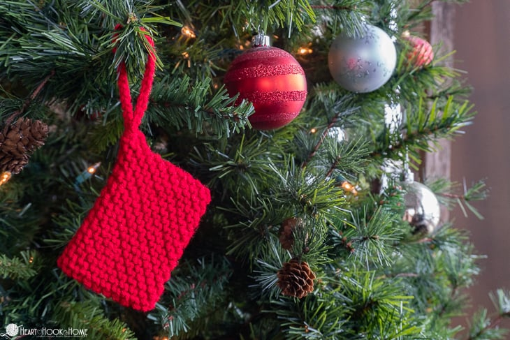 Gift Card Envelope Christmas Ornament Knit Pattern
