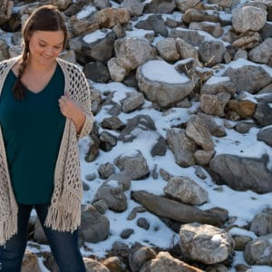 Wanderlust Pocketed Shawl crochet pattern