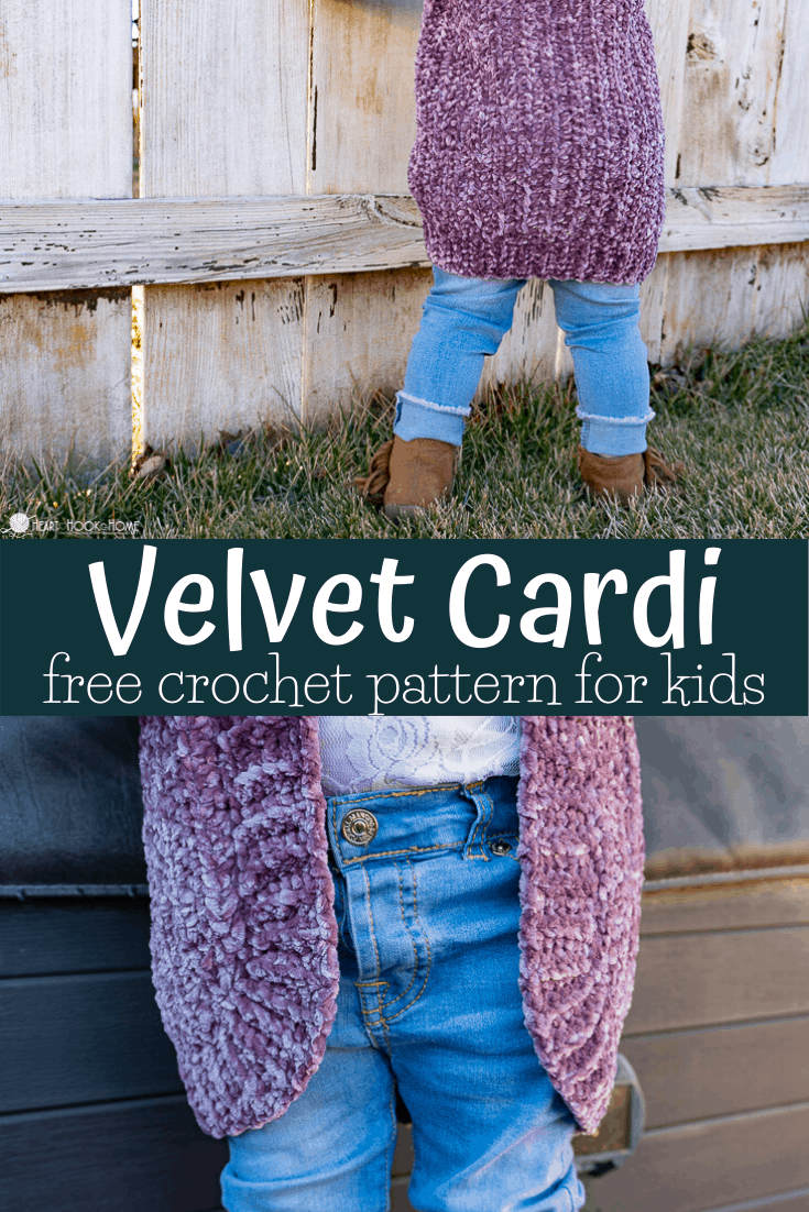 Bernat Velvet Yarn Cardigan for Kids