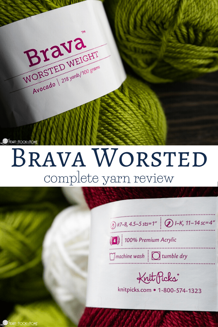 Brava Worsted Weight Yarn Review