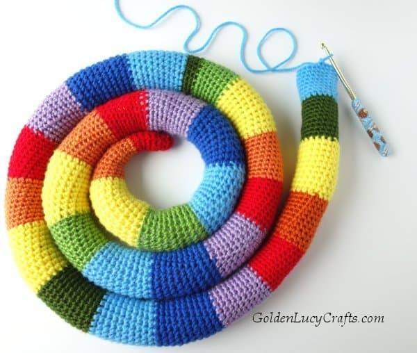 temperature snake crochet