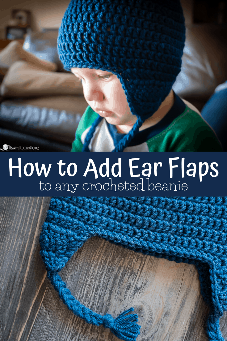 How to add Ear Flaps to any crocheted beanie