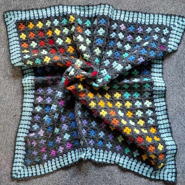 Granny Square temperature blanket
