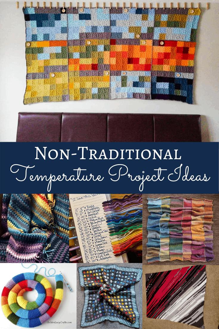 non-traditional temperature blanket ideas
