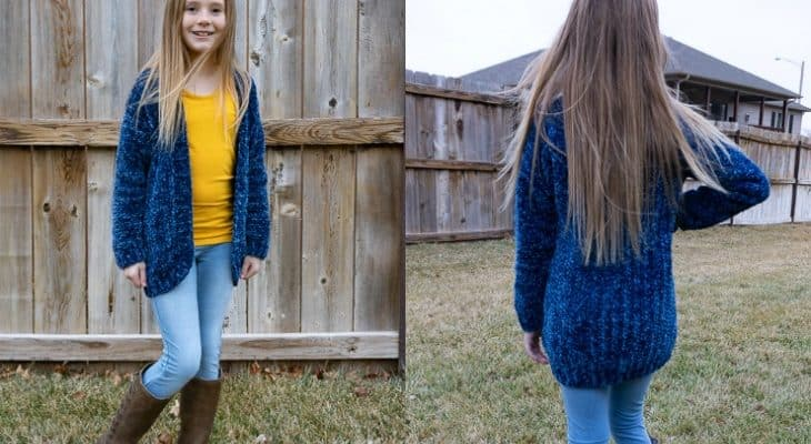 Velvet Cardi for Big Kids