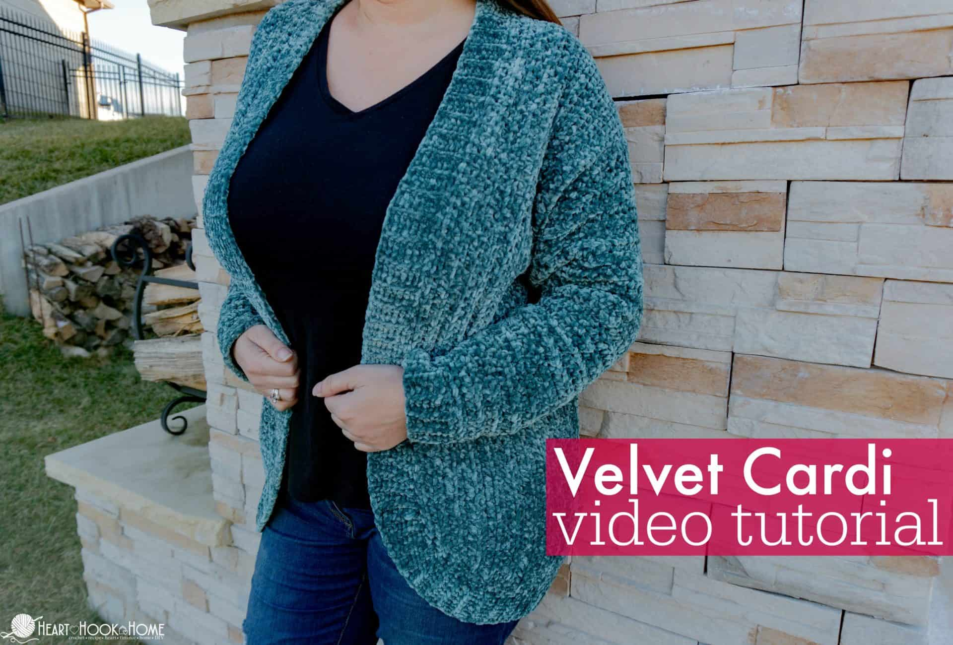 velvet cardigan video tutorial
