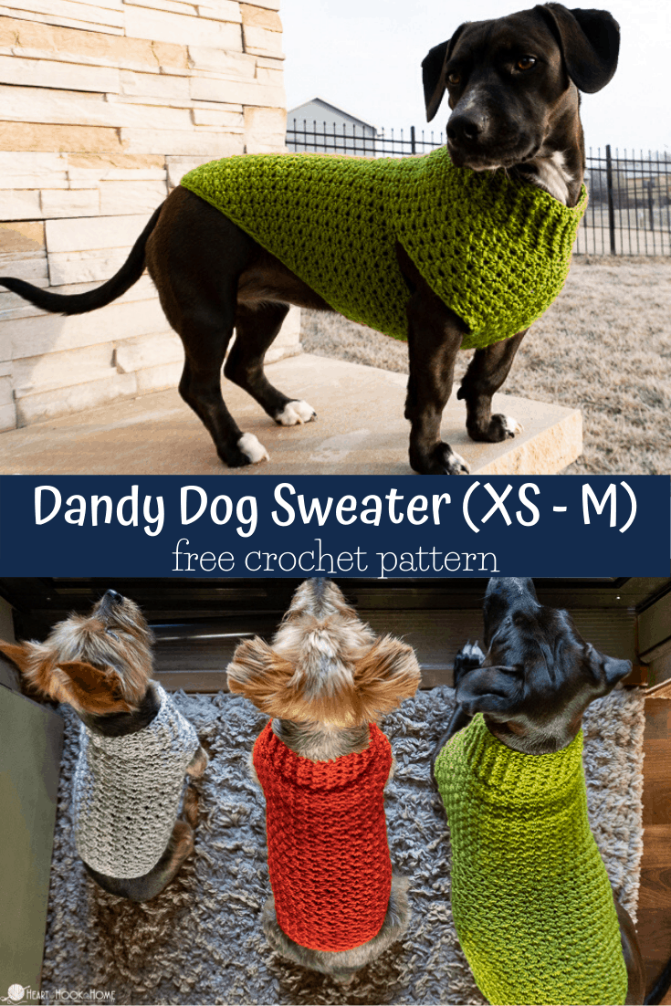 how to crochet a dog sweater