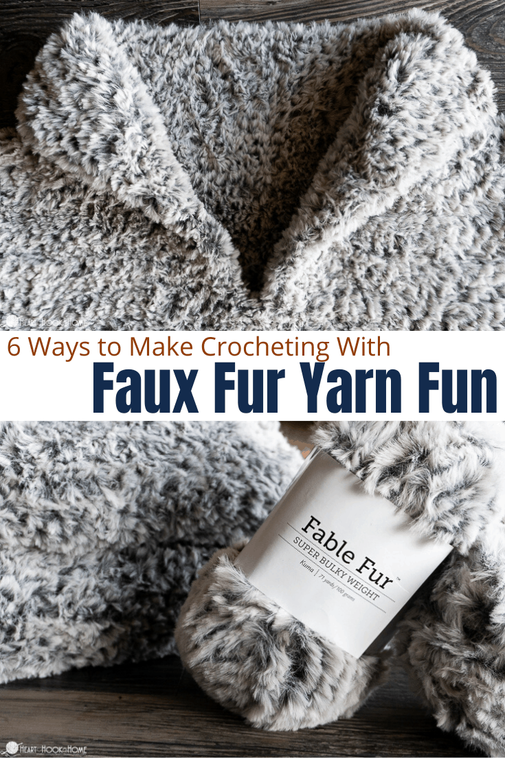 faux fur yarn tips