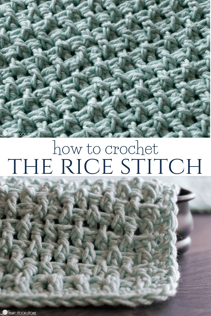 How to crochet the rice stitch