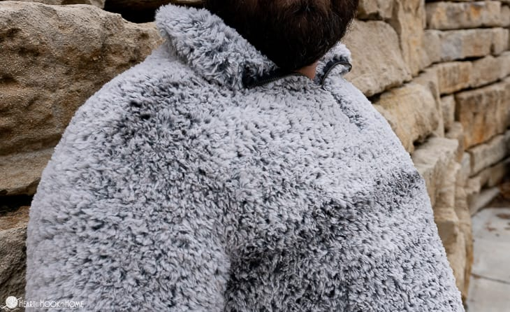 how to crochet a sherpa with fur yarn