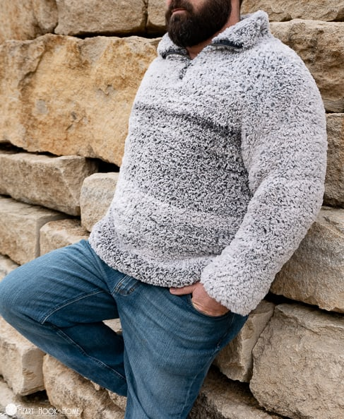 men's sherpa free crochet pattern