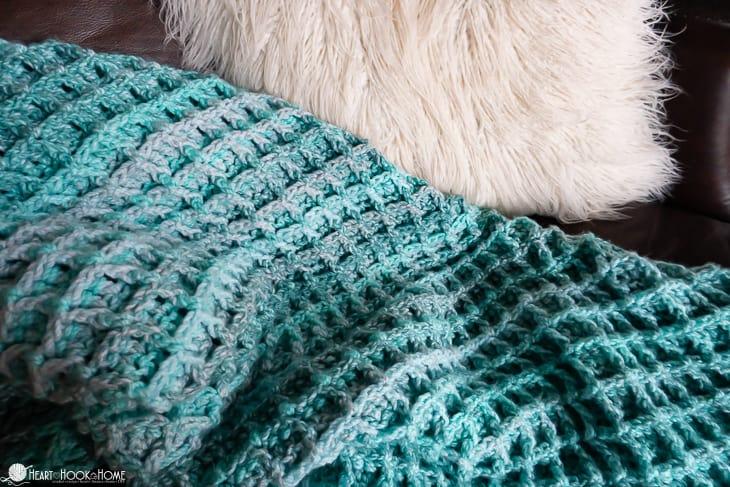 waffle stitch blanket pattern crochet