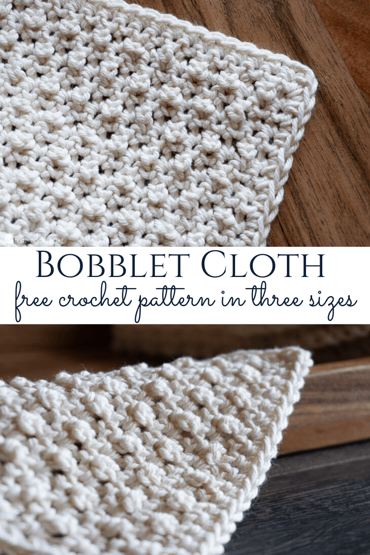 Bobblet Cloth Crochet pattern in three sizes