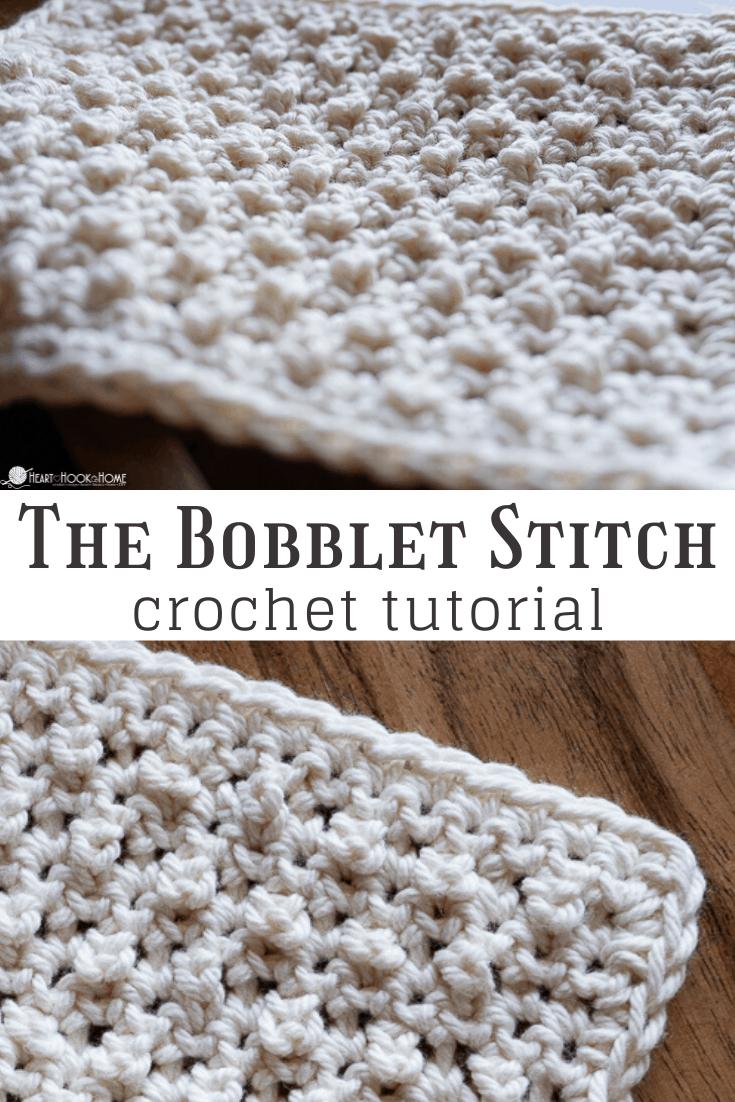 Bobblet Stitch crochet tutorial