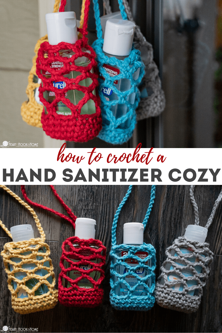How to crochet a hand sanitizer cozy